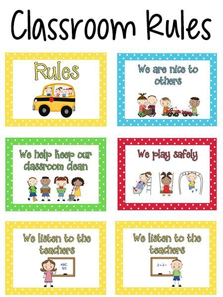 Rules guidelines for children at day care