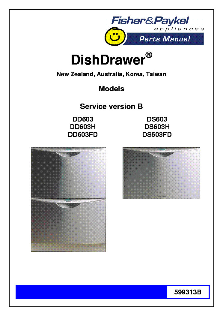 Fisher and paykel ds603 manual