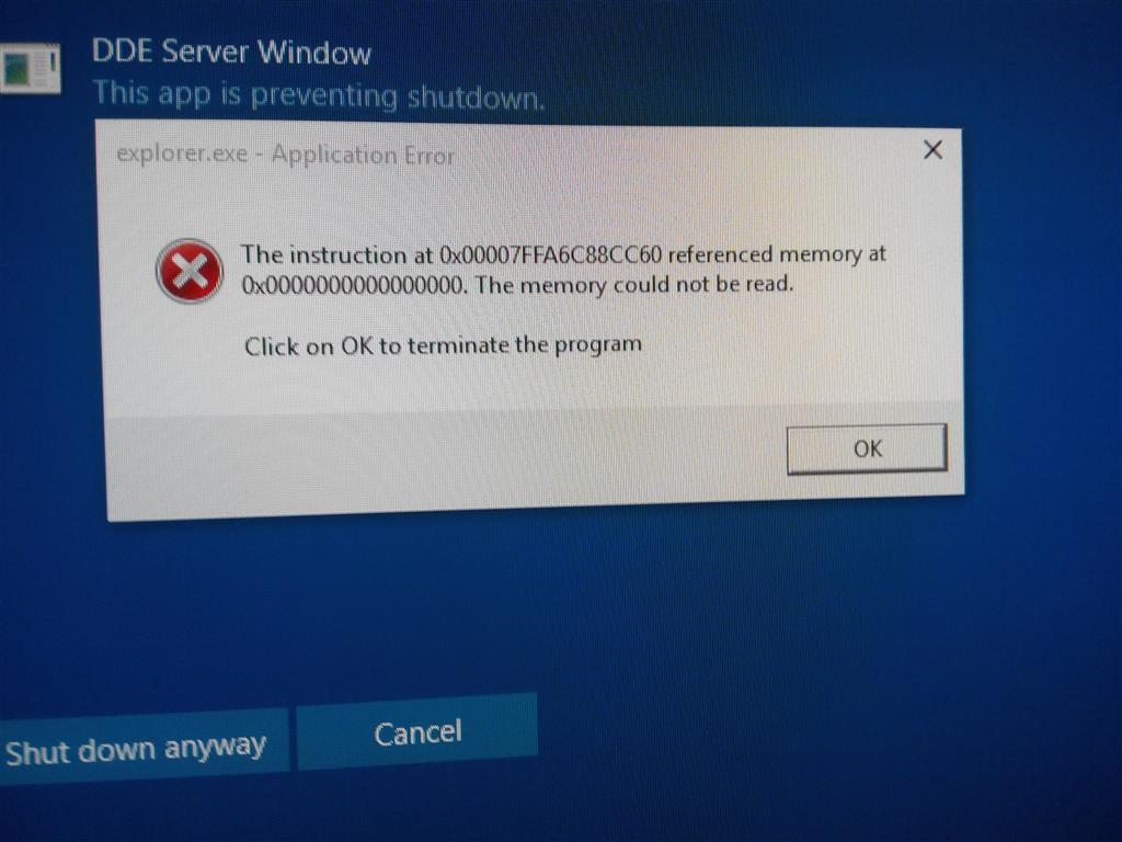 Taskhoste.exe application error windows 10