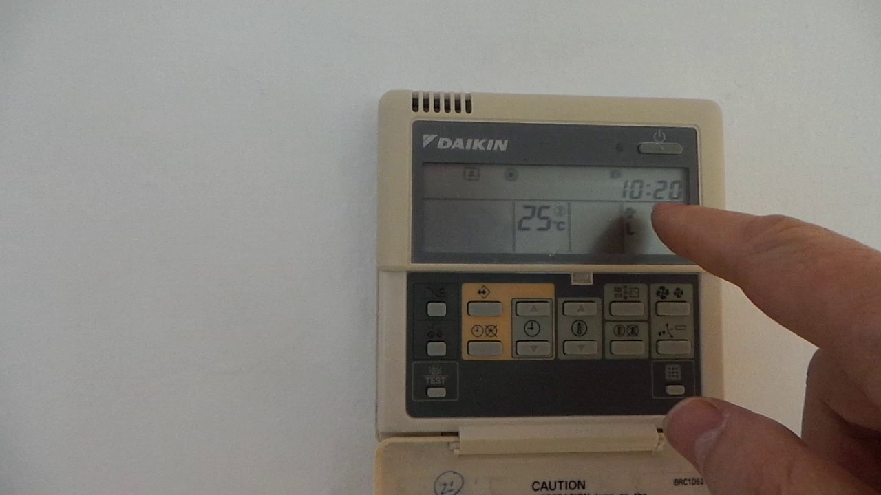 daikin remote control manual brc1d52