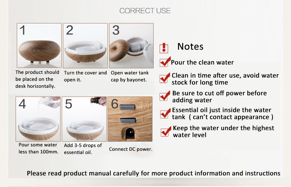 in essence aroma diffuser instructions