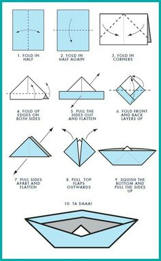 paper boat hat instructions
