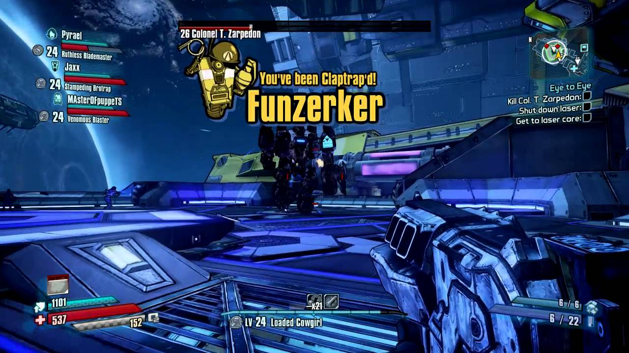Borderlands the pre sequel how to get back to zarpedon
