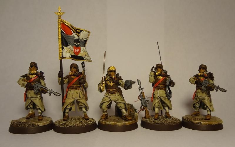 imperial guard command squad instructions