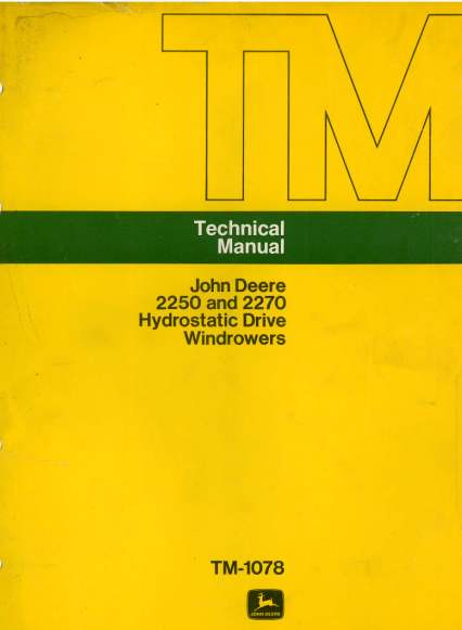 John deere 2250 workshop manual
