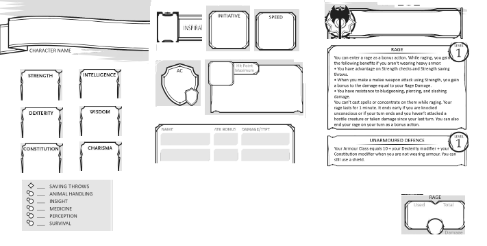 Character model sheet template pdf