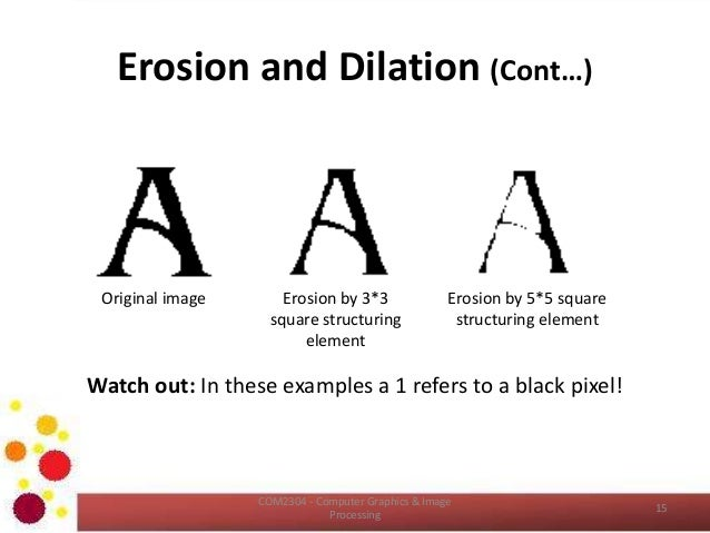 Dilation and erosion in image processing pdf