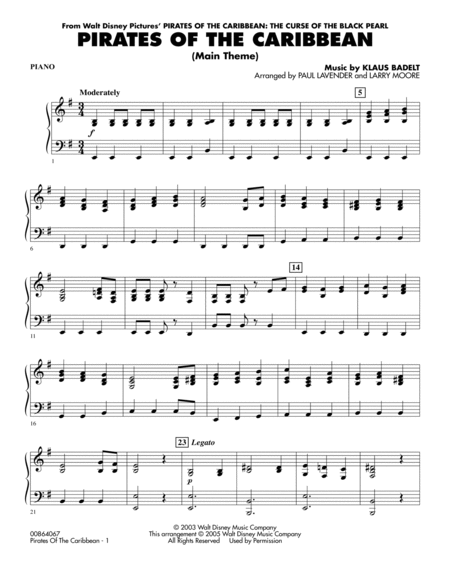 Easy pirates of the caribbean piano sheet music pdf
