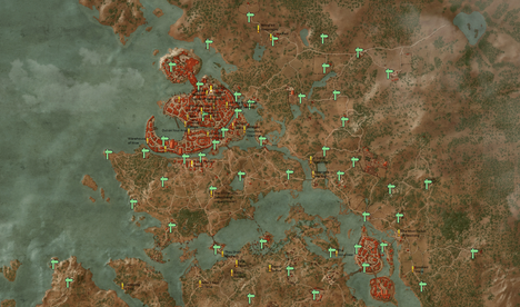Witcher 3 how to get all poi and secondary quests