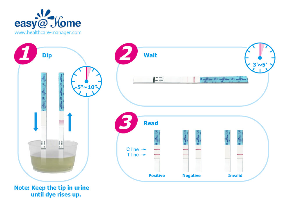 home check ovulation test kit instructions