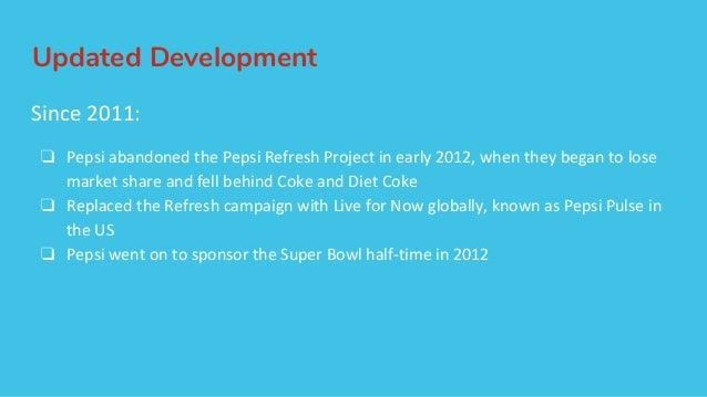 The pepsi refresh project a thirst for change pdf
